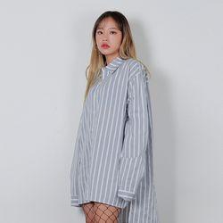 2462 마스 오버핏 스트라이프 셔츠 (3colors)