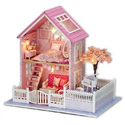 [adico]DIY 미니어처 풀하우스 - 핑크 체리 블라썸