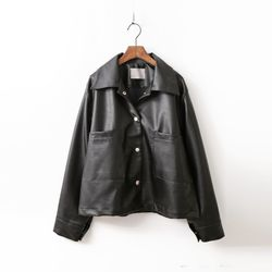 Faux Leather Jumper