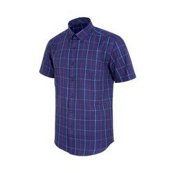 투 컬러 라인 네이비 레귤러 반팔 셔츠S7527