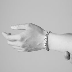 [ARETE] Minimal Oval Chain Bracelet