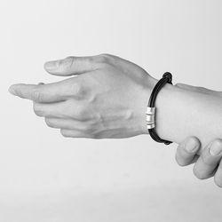 [ARETE] Multi Layered Bracelet Ver.Brushed Silver