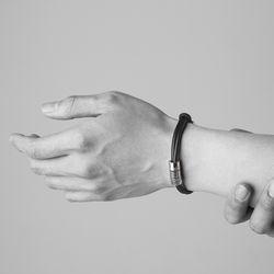 [ARETE] Multi Layered Bracelet Ver.Polishing Silver