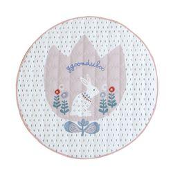 [KC인증번호 누락] 꿈두부 토끼 디자인 아이방 인테리어 원형 유아러그 핑크