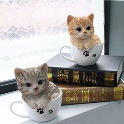 뉴 컵속의 고양이 2color
