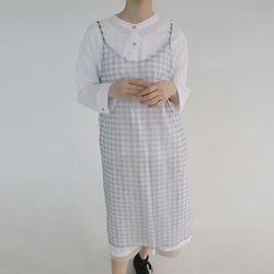 gingham check dress (2colors)