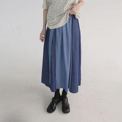 denim combination skirt (2colors)