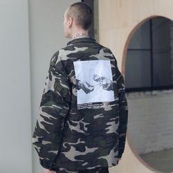 매스노운 SL 로고 필드 셔츠 자켓 MSNJK003-CM