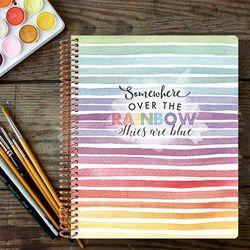 2019 Changeable 다이어리 - Watercolor Rainbow Strokes