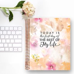 2019 Changeable 다이어리 - Floral Qoute 01