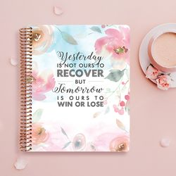 2019 Changeable 다이어리 - Floral Qoute 02