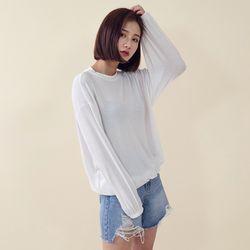 [로코식스] 히든 무지 티셔츠