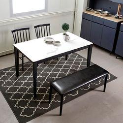 디아크 세라믹 4인 식탁테이블