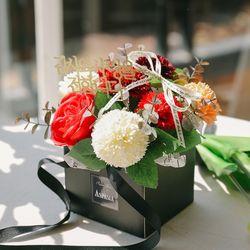 [쇼핑백+메세지픽]행복을 전하는 카네이션 비누꽃가방