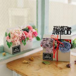 [쇼핑백+메세지픽]젠틸레 카네이션 비누꽃 센터피스
