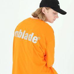 오버핏 3M 리플렉트 로고 반팔티-오렌지