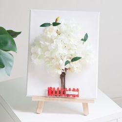 전구벚꽃나무액자set 30cmP(펜+이젤포함) (조화) FMFUFT