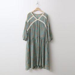 Ethnic V-Neck Long Dress