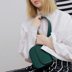 FENNEC TROIS SQUARE BAG (S) - FOREST GREEN