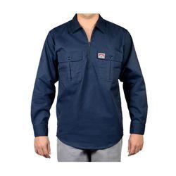 벤데이비스 포켓 플랩 긴팔 셔츠 네이비 218