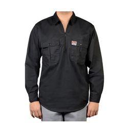 벤데이비스 포켓 플랩  긴팔 셔츠 블랙 214