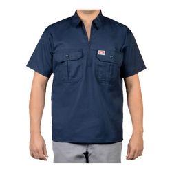 벤데이비스 포켓 플랩  반팔 셔츠 네이비 118