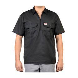 벤데이비스 포켓 플랩 반팔 셔츠 블랙 114