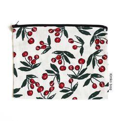 white cherry pouch