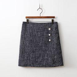 Linen Pearl Mini Skirt
