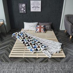 홈잡스 삼나무 원목 침대깔판 매트리스깔판 저상침대 퀸Q
