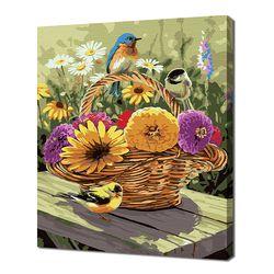 [명화그리기]3040 들꽃 바구니에 앉은 새들 20색 정물화