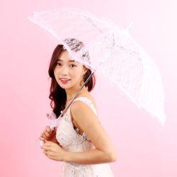 스몰 웨딩 레이스 우산