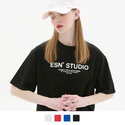 베이직 프린팅 반팔 티셔츠 (4color)