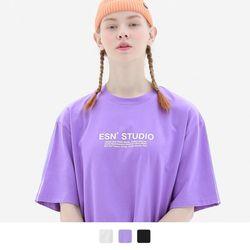 더블 프린팅 반팔 티셔츠 (3color)