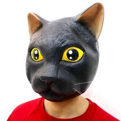고양이 가면 블랙 [오가와마스크]