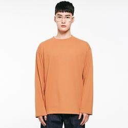 (UNISEX) 썸머 코튼 소프트 롱슬리브 티셔츠 브라운