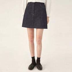 mac short denim skirt (s m)