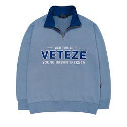 Authentic Half Pullover (light blue)