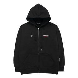 Circle Logo Hood Zipup (black)