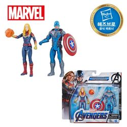 어벤져스 6인치 피규어 팀팩 1 - 캡틴마블&캡틴아메리카