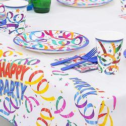 생일파티 테이블세트 파티리본