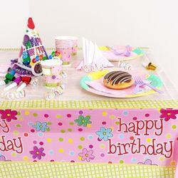 생일파티 테이블보 생일 플라워