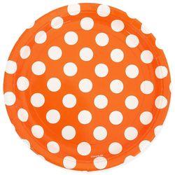 빅도트 파티접시 23cm 6개입 오렌지