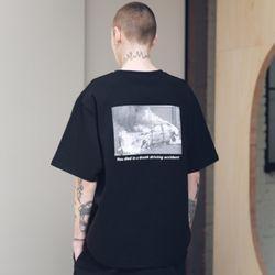매스노운 SL 로고 스카치 버닝 티셔츠 반팔티 MSNTS001-BK