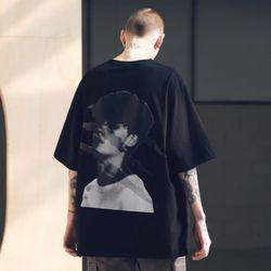 매스노운 SB 스크래치 오버사이즈 티셔츠 반팔티 MSNTS002-BK