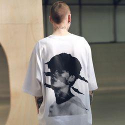 매스노운 SB 스크래치 오버사이즈 티셔츠 반팔티 MSNTS002-WT