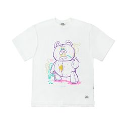 BEAR GANG OVERSIZED T-SHIRTS WHITE