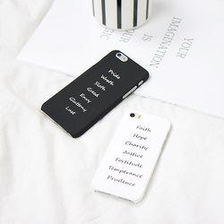 레터링 아이폰 하드 케이스 - 2color