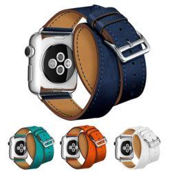 애플워치 가죽 밴드 스트랩 손목시계줄 38 40 42 44mm