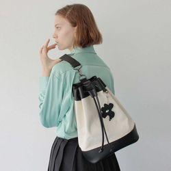 YOKO BUCKET BAG (M) (ivory)